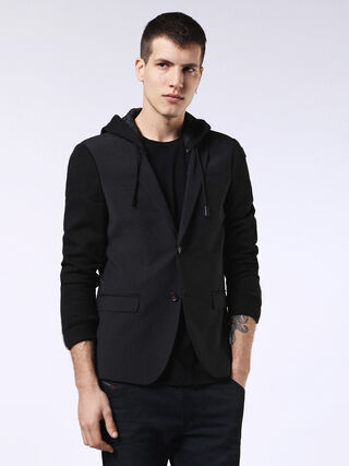 DVL-BLAZER-HOOD-RE, Nero