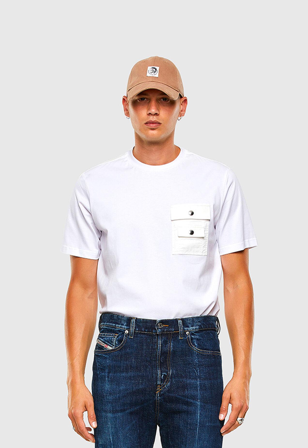 T-TASK-SLITS, Bianco - T-Shirts