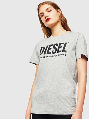T-DIEGO-LOGO, Grigio - T-Shirts