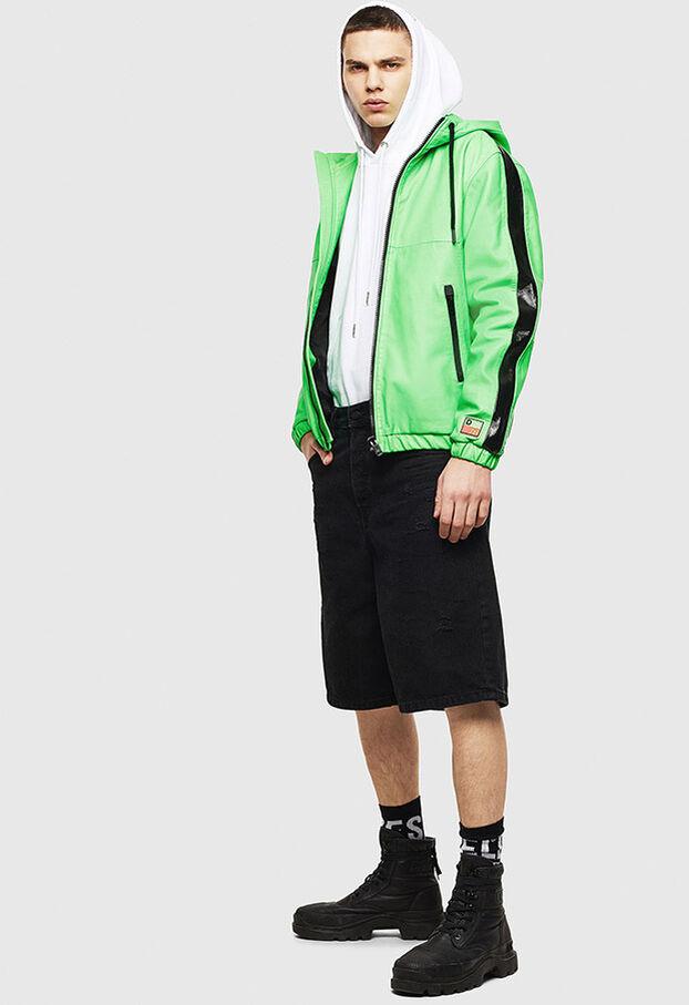 L-CARRSY, Verde Fluo - Giacche di pelle