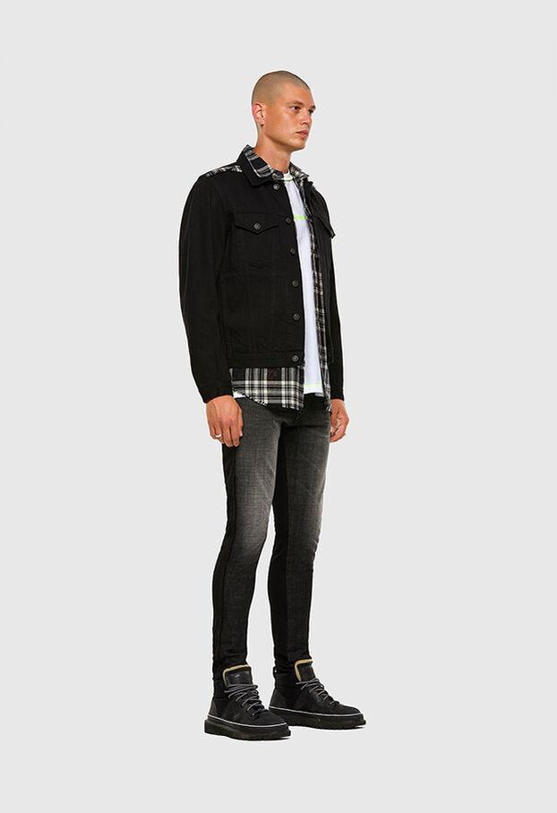 D-Strukt 009HY, Nero/Grigio scuro - Jeans