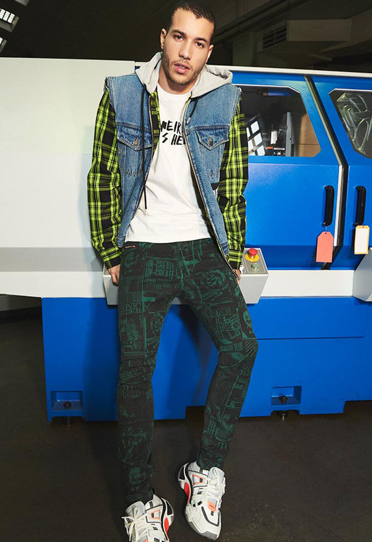 D-Strukt 009GB, Verde Scuro - Jeans