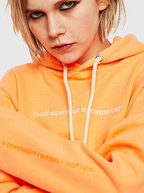 S-GIRK-HOOD-FLUO, Arancione - Felpe