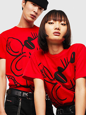 CL-T-DIEGO-2, Rosso - T-Shirts