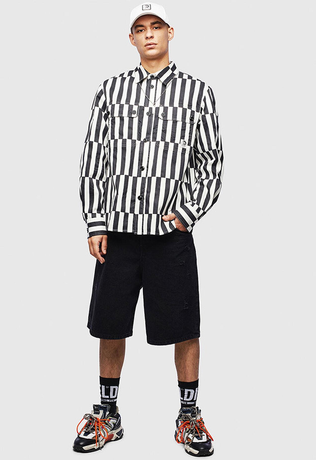 S-JESSY-B, Bianco/Nero - Camicie