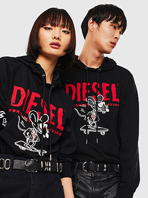 CL-T-JUST-LS-HOOD, Nero - T-Shirts