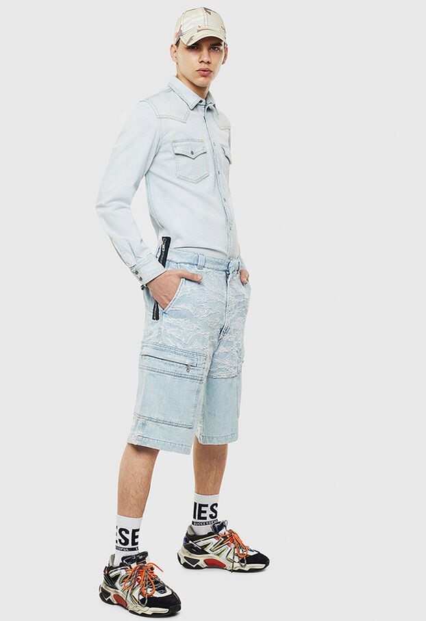 D-EAST-P, Blu Jeans - Camicie in Denim