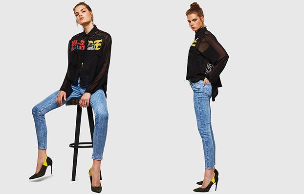 Gracey JoggJeans 0870P, Blu Chiaro - Jeans