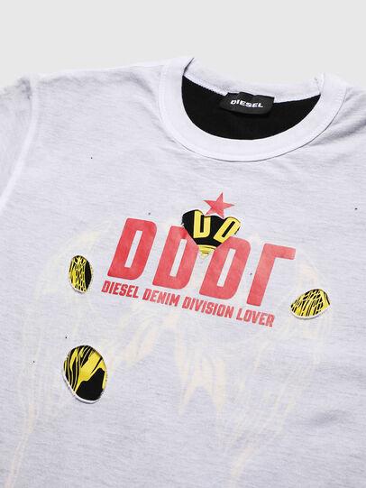 Diesel - TJUSTLAY, Bianco/Nero - T-shirts e Tops - Image 3