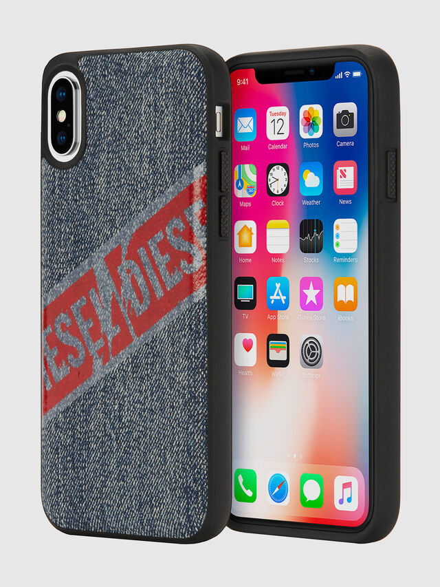 Diesel - VINTAGE DENIM IPHONE X CASE, Blu Jeans - Cover - Image 1
