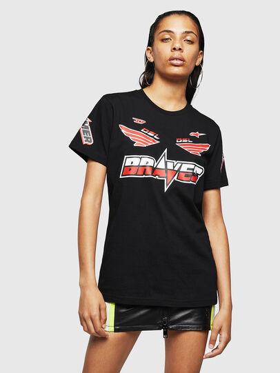 Diesel - ASTARS-T-DIEGO-FL, Nero - T-Shirts - Image 1