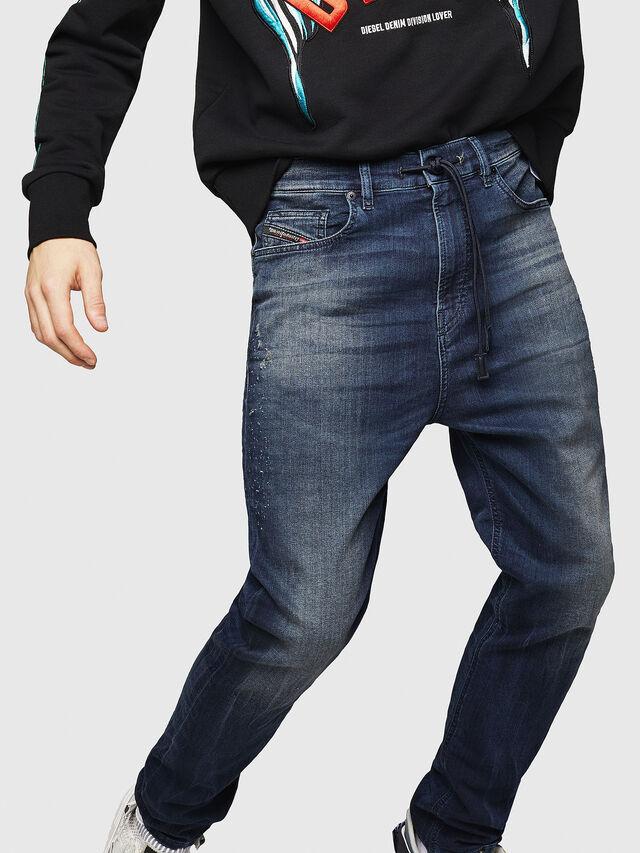 Diesel - D-Vider JoggJeans 069HV, Blu medio - Jeans - Image 4