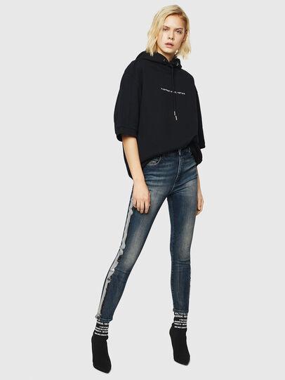 Diesel - Babhila High 069HN, Blu Scuro - Jeans - Image 6