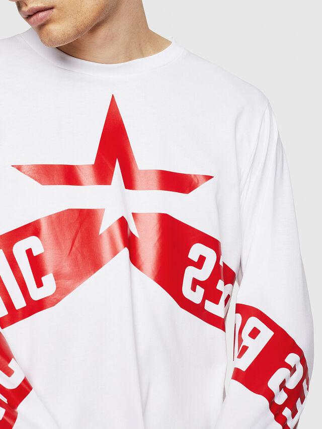 Diesel - T-JUST-LS-STAR, Bianco - T-Shirts - Image 3