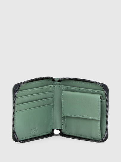 Diesel - HIRESH XS ZIPPI, Verde Militare - Portafogli Con Zip - Image 3