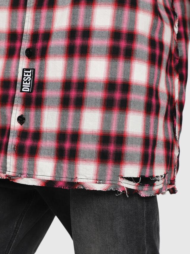 Diesel - S-MACHITO, Rosa/Bianco - Camicie - Image 3