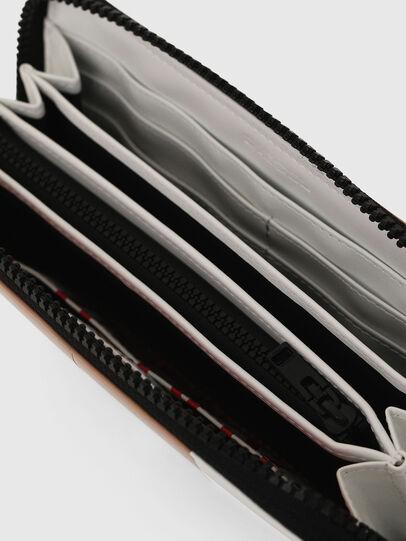 Diesel - 24 ZIP, Bianco/Rosso - Portafogli Con Zip - Image 4