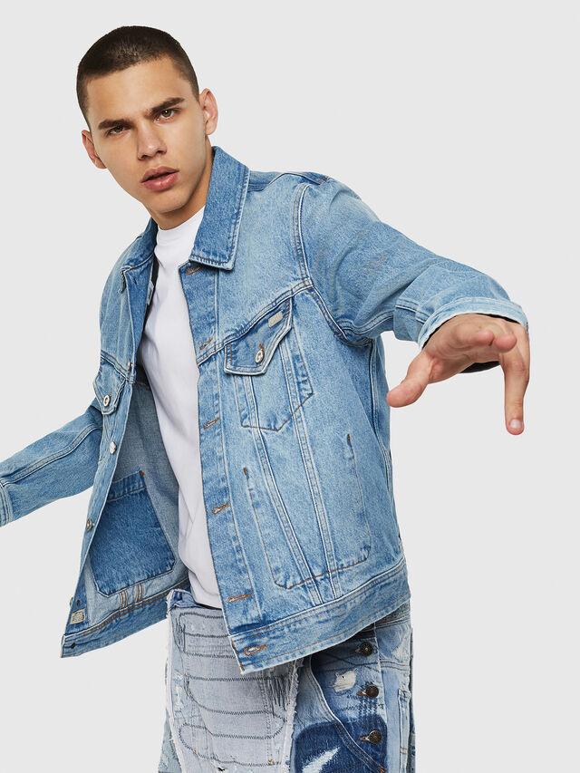 Diesel - D-BRAY, Blu Jeans - Giacche in denim - Image 4