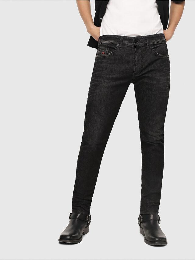 Diesel - Thommer JoggJeans 0077U, Nero/Grigio scuro - Jeans - Image 1