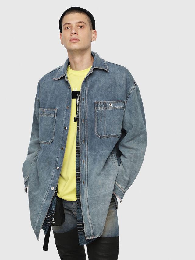 Diesel - D-LOREN, Blu Jeans - Giacche in denim - Image 1