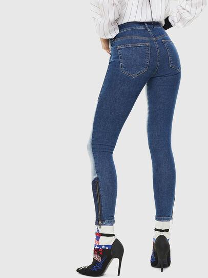 Diesel - Slandy Zip 0890L, Blu medio - Jeans - Image 2