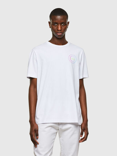 Diesel - T-JUST-E8, Bianco - T-Shirts - Image 1