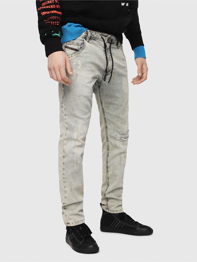 Diesel - Krooley JoggJeans 069FD, Blu Chiaro - Jeans - Image 1