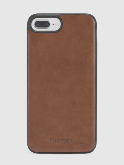 Diesel - BROWN LEATHER IPHONE 8 PLUS/7 PLUS/6s PLUS/6 PLUS CASE, Marrone - Cover - Image 3