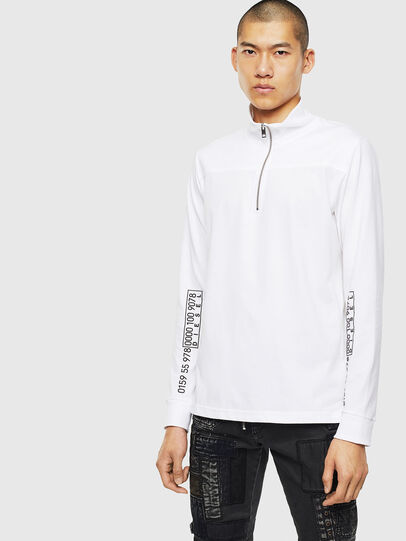 Diesel - T-DIEGO-LS-DOLCE, Bianco - T-Shirts - Image 1