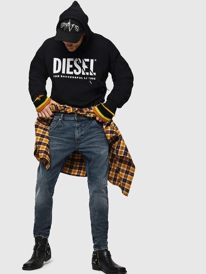 Diesel - Krooley JoggJeans 0870W, Blu medio - Jeans - Image 5