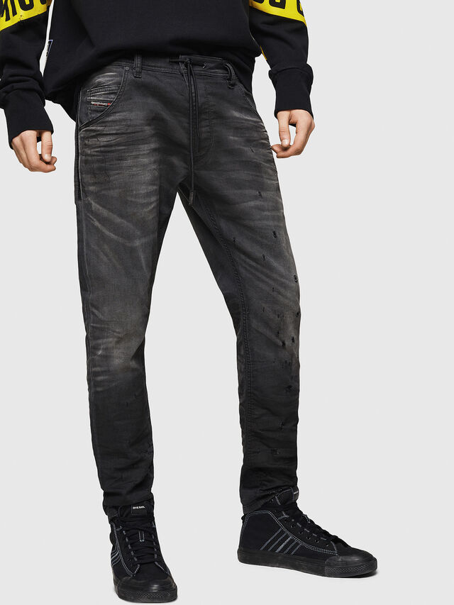 Diesel - Krooley JoggJeans 069GN, Nero/Grigio scuro - Jeans - Image 1