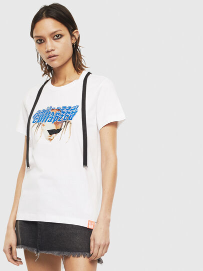 Diesel - T-SILY-S3, Bianco - T-Shirts - Image 1