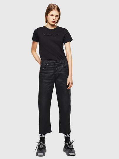 Diesel - T-SILY-COPY, Nero - T-Shirts - Image 4