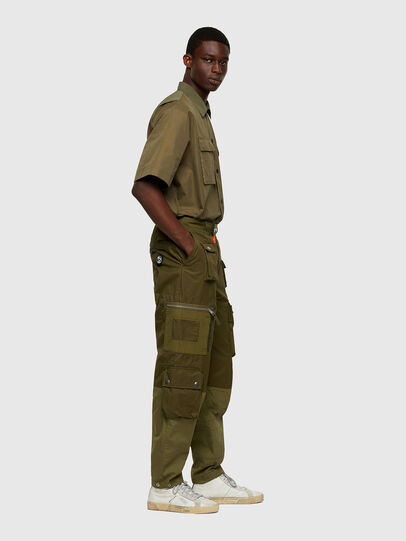 Diesel - P-CYAN, Verde Militare - Pantaloni - Image 7