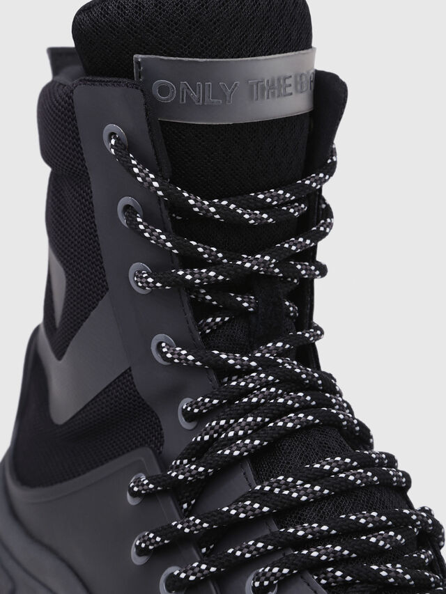 Diesel - S-KIPPER MID LACE, Nero - Sneakers - Image 5