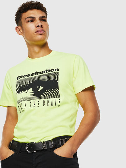 Diesel - T-DIEGO-J4, Giallo Fluo - T-Shirts - Image 7