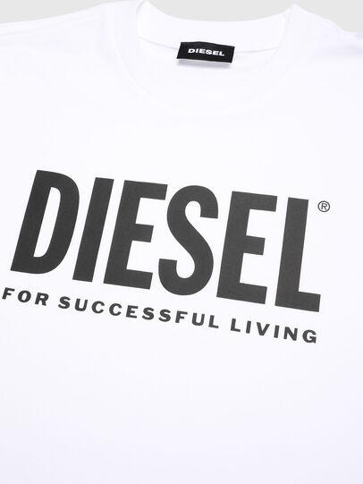 Diesel - TJUSTLOGO, Bianco - T-shirts e Tops - Image 3