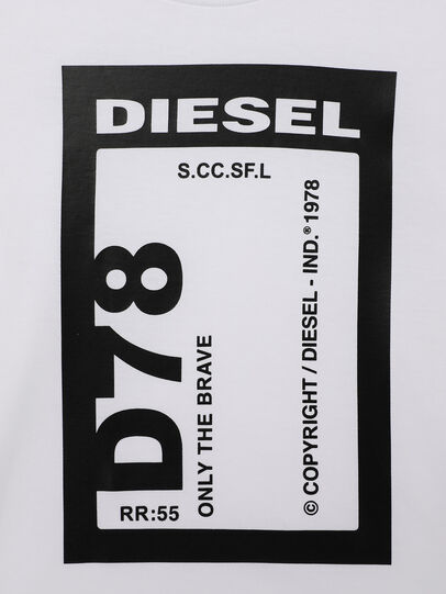 Diesel - TFULL78B-R, Bianco - T-shirts e Tops - Image 3