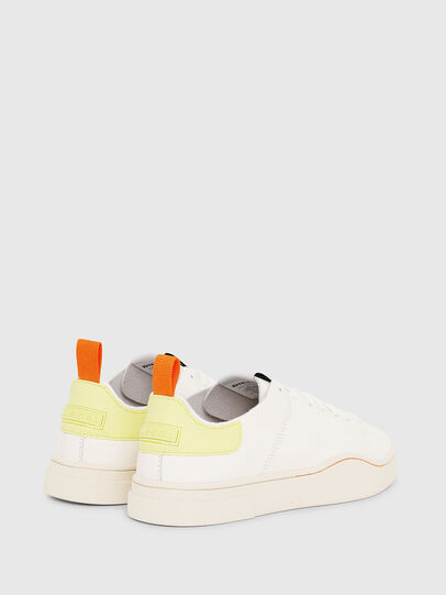 Diesel - S-CLEVER LS W, Bianco/Giallo - Sneakers - Image 3