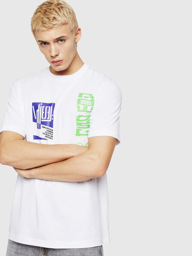 Diesel - T-JUST-Y20, Bianco - T-Shirts - Image 1
