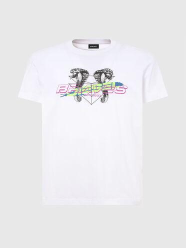 T-shirt con logo e cobra