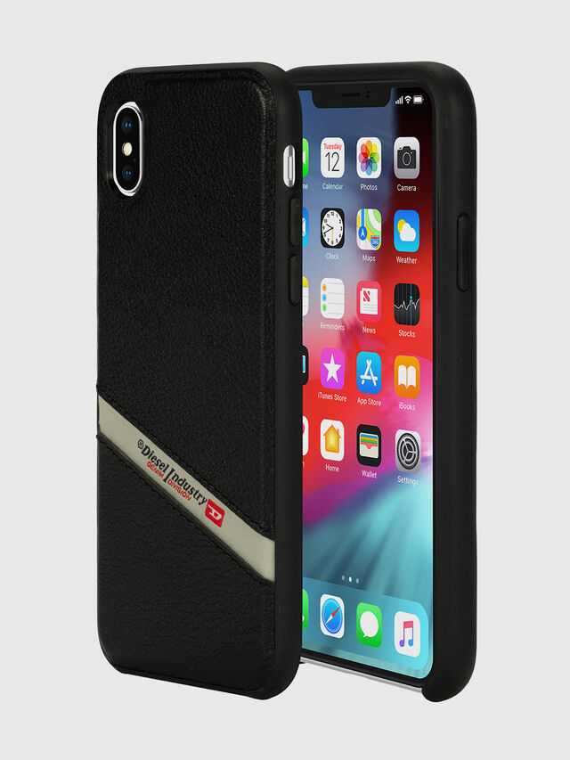 Diesel - DIESEL LEATHER CO-MOLD CASE FOR IPHONE XS MAX, Nero - Cover - Image 1