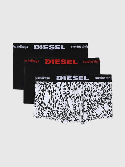 Diesel - UMBX-DAMIENTHREEPACK, Nero/Bianco - Boxer stretch - Image 1