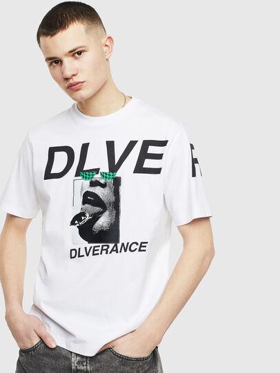 Diesel - T-JUST-T21, Bianco - T-Shirts - Image 1