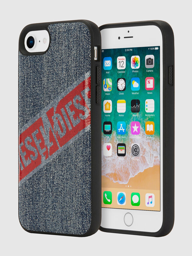 Diesel - VINTAGE DENIM IPHONE 8/7/6S/6 CASE, Blu Jeans - Cover - Image 1