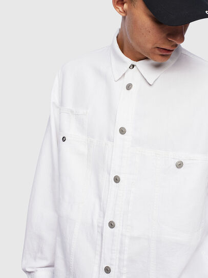 Diesel - D-FLOX, Bianco - Camicie in Denim - Image 4