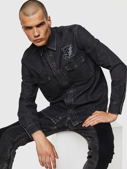 Diesel - D-BANDY-B, Nero - Camicie in Denim - Image 3