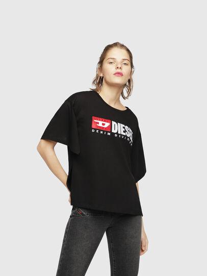 Diesel - T-JACKY-D, Nero - T-Shirts - Image 1