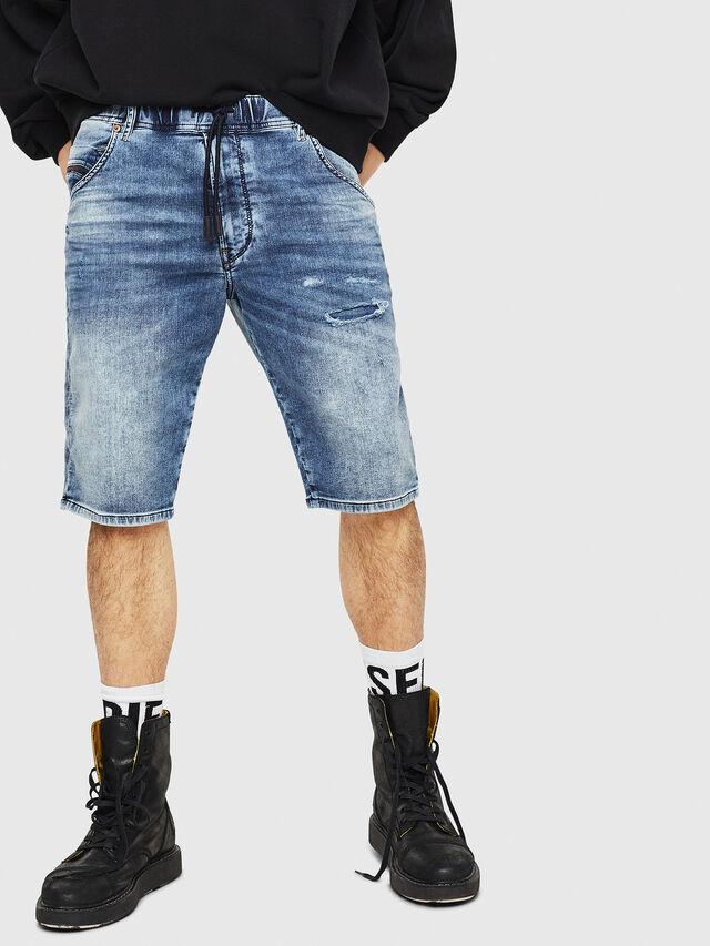 Diesel - D-KROOSHORT JOGGJEANS, Blu Jeans - Shorts - Image 1