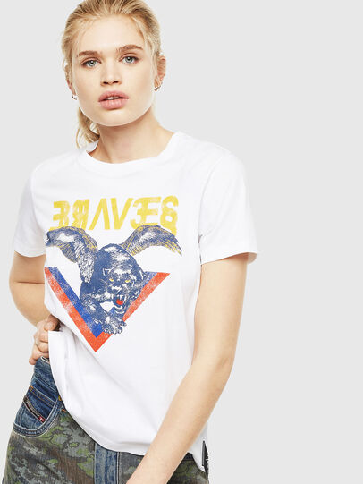 Diesel - T-SILY-WP, Bianco - T-Shirts - Image 1